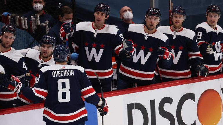Форвард «Вашингтона» Александр Овечкин и его команда. Фото USA Today Sports