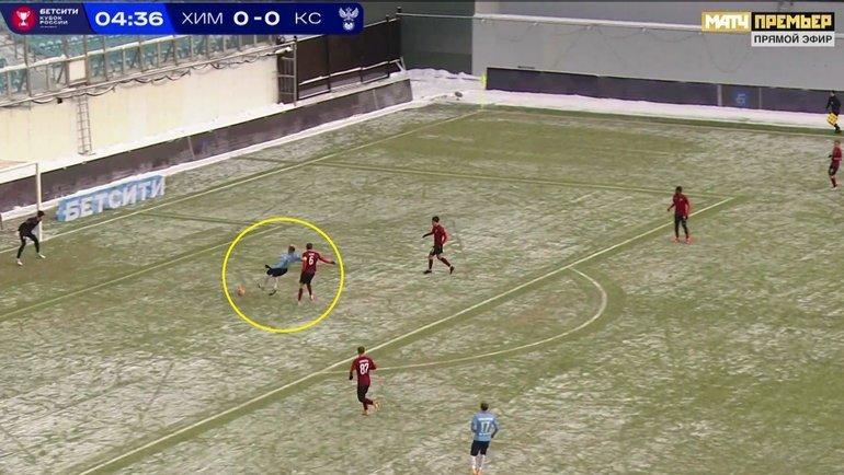 «Химки»— «Крылья»: почему Вилков неудалил игрока хозяев.