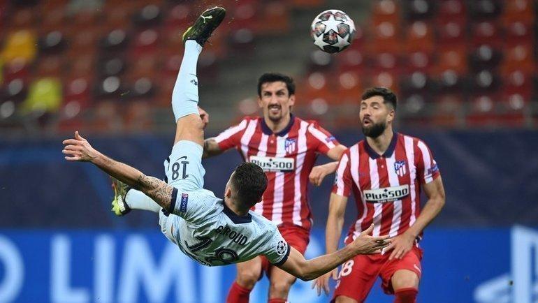 23февраля. «Атлетико»— «Челси»— 0:1. Гол забивает Оливье Жиру. Фото Twitter