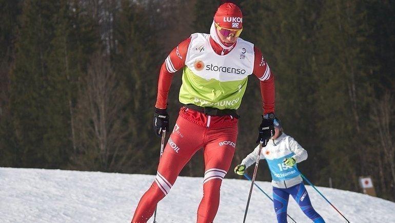 Александр Большунов. Фото vk.com/russianskiteam
