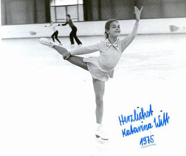 1975 год. Десятилетняя Катарина Витт. Фото Изличного архива фигуристки