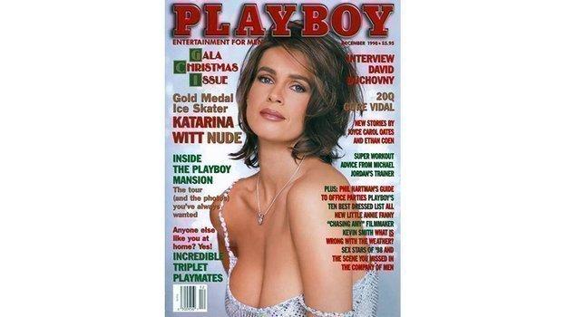 Обложка Playboy сКатариной Витт.