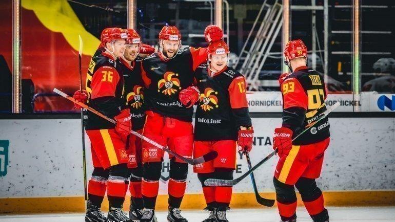 «Йокерит» будет проводить домашние матчи плей-офф КХЛ нааренах соперников. Фото ХК «Йокерит»