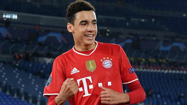 23февраля. Рим. «Лацио»— «Бавария»— 1:4. 17-летний Джамал Мусиала забил победный гол. Фото Reuters