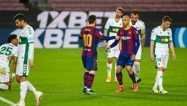 Дубль Месси принес «Барселоне» победу над «Эльче»