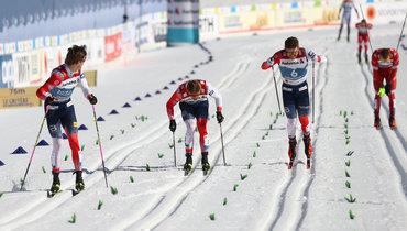 25февраля. Оберстдорф. Йоханнес Клебо (слева) выиграл спринт наЧМ.