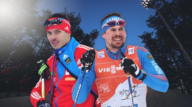 Биатлонист Евгений Устюгов (слева) и лыжник Сергей Устюгов.
