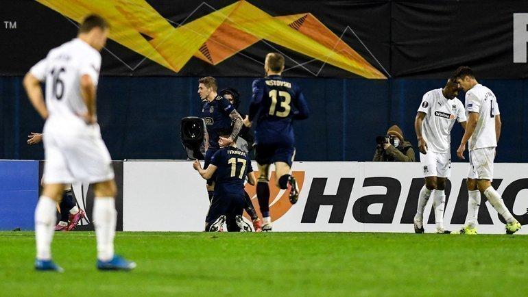 25февраля. Загреб. «Динамо З» (Хорватия)— «Краснодар» (Россия)— 1:0. Фото Reuters