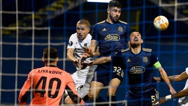 25февраля. Загреб. «Динамо З»— «Краснодар»— 1:0. Фото AFP