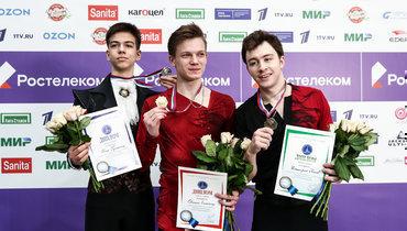 28февраля. Москва. Петр Гуменник, Евгений Семененко, Дмитрий Алиев (слева направо).