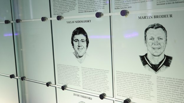 Табличка Вацлава Недомански вЗале славы НХЛ. Фото AFP