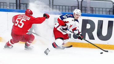 ЦСКА и «Спартак» встретятся впервом раунде Кубка Гагарина.