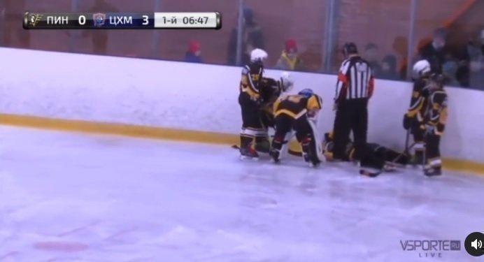 Тяжелая травма юного хоккеиста. Фото Instagram