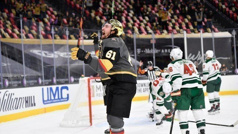 «Вегас» победил «Миннесоту» вматче регулярного чемпионата НХЛ. Фото ХК «Вегас»