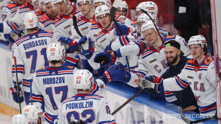 Хоккеисты СКА. Фото Александр Федоров, «СЭ» / Canon EOS-1D X Mark II