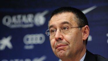 Бывший президент «Барселоны» был доставлен вполицейский участок для дачи показаний
