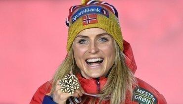 Тереза Йохауг обошла Ларису Лазутину поколичеству золотых медалей начемпионатах мира