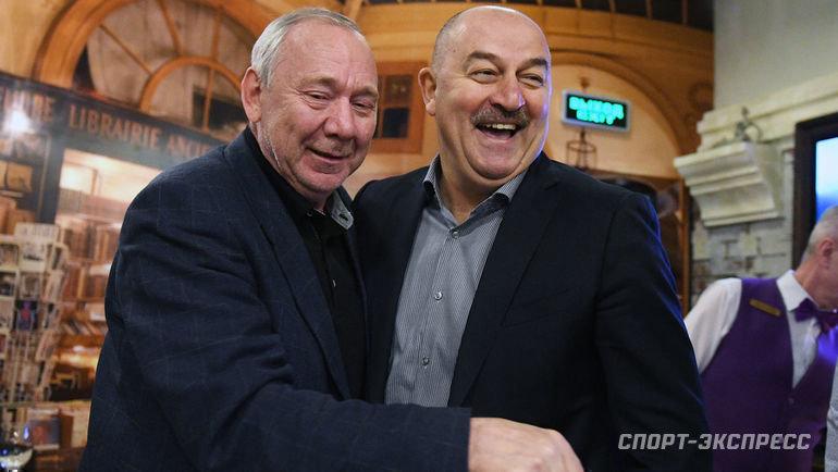 Олег Романцев иСтанислав Черчесов (справа). Фото «СЭ»