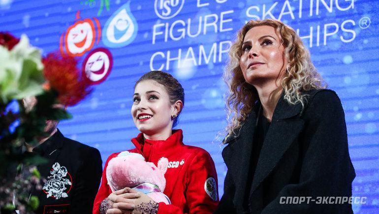 Алена Косторная иЭтери Тутберидзе. Фото Сергей Бобылев/ТАСС