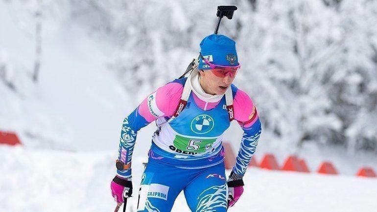 Финишер сборной России вэстафете вНове-Место Светлана Миронова. Фото Reuters