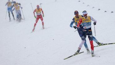 Россия уступает 35 секунд Норвегии после третьего этапа мужской эстафеты начемпионате мира