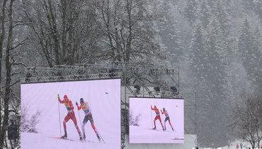 Российские лыжники заняли второе место вэстафете наЧМ вОберстдорфе