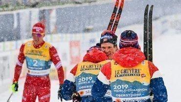Радость норвежских лыжников.