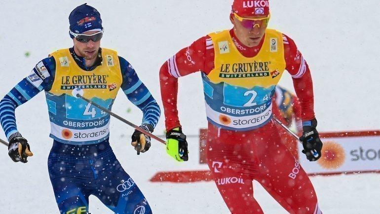 Александр Большунов (справа). Фото Reuters