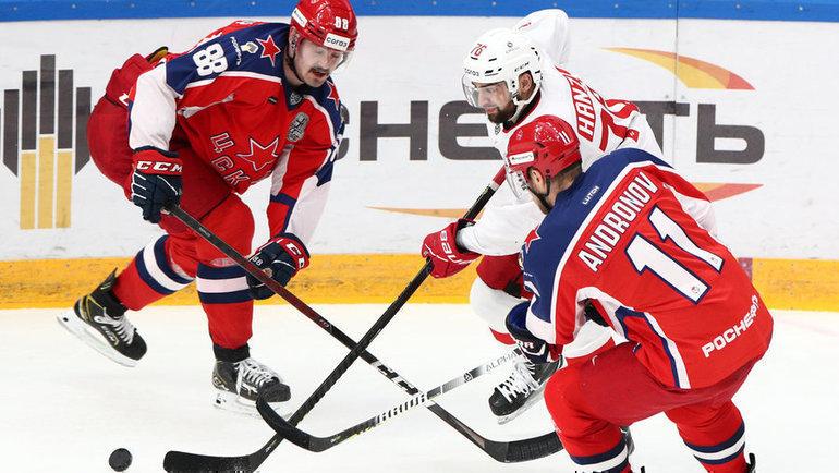 «Спартак» иЦСКА сыграли третий матч всерии плей-офф. Фото Дарья Исаева, «СЭ» / Canon EOS-1D X Mark II