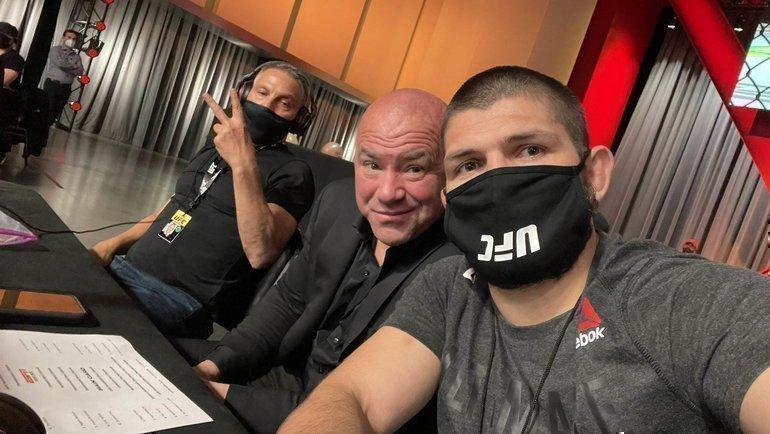 Хабиб Нурмагомедов и глава UFC Дана Уайт. Фото Twitter