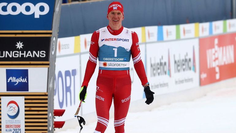 Александр Большунов после финиша марафона ЧМ-2021. Фото Reuters