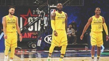 Команда Леброна обыграла команду Дюранта вМатче звезд НБА