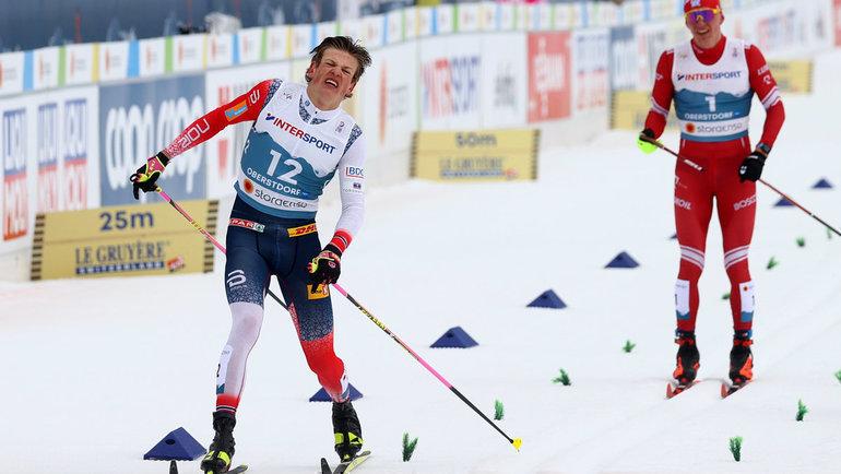 Йоханнес Клебо финишировал первым вмарафоне, нопозже был дисквалифицирован. Фото Reuters