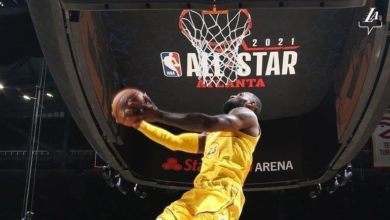 Леброн Джеймс наматче звезд НБА. Фото instagram.com/lakers