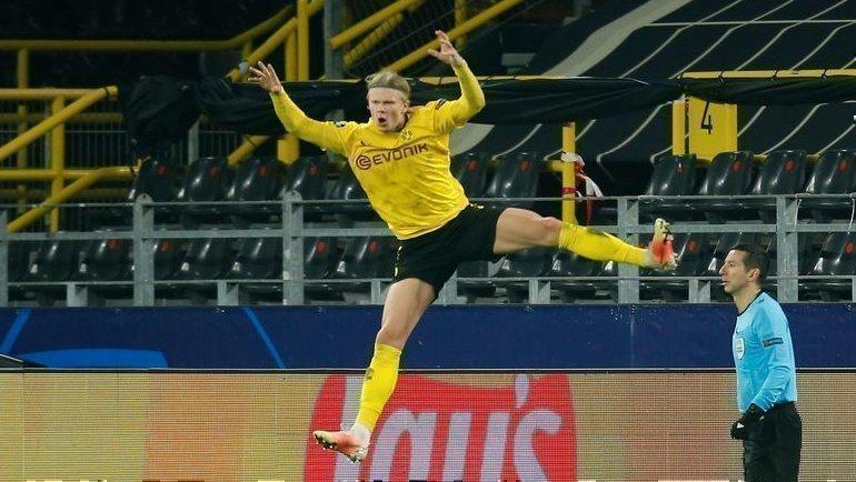 9марта. Дортмунд. «Боруссия»— «Севилья»— 2:2. 54-я минута. Эрлин Холанн празднует второй гол. Фото Reuters