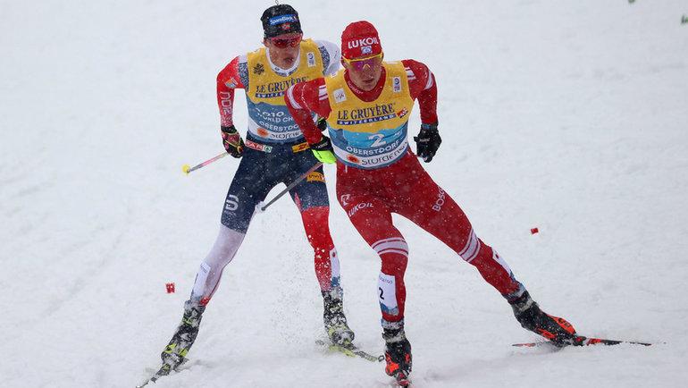 Йоханнес Клебо иАлександр Большунов. Фото Reuters