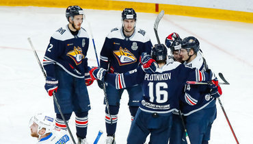 Хоккеисты «Металлурга».