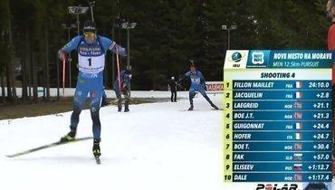 Фийон-Майе выиграл гонку преследования вНове-Место, Елисеев десятый
