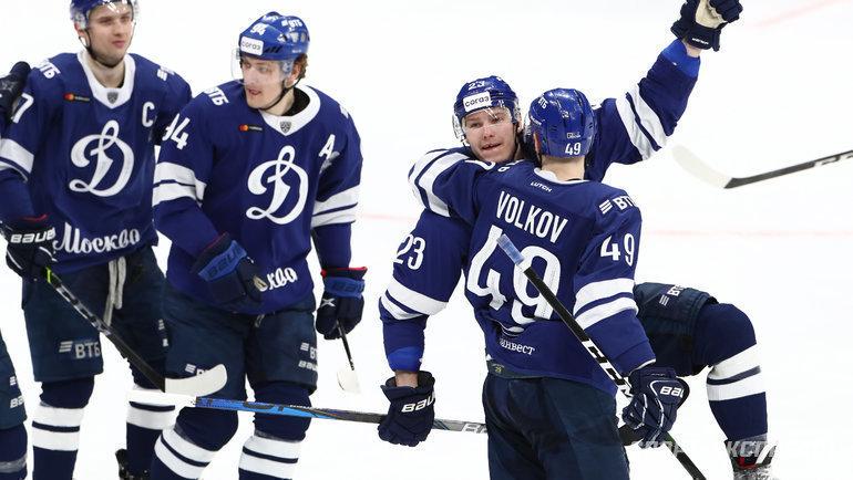 Московские динамовцы, как иармейцы, являются фаворитами своих пар  второго раунда Кубка Гагарина. Фото Дарья Исаева, «СЭ» / Canon EOS-1D X Mark II