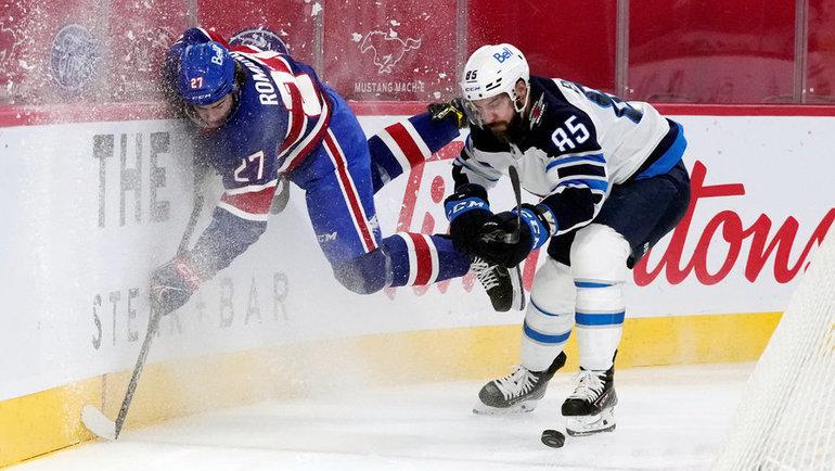 Александр Романов (слева) иМатье Перро. Фото USA Today Sports