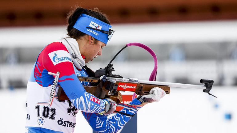 Анастасия Гореева. Фото СБР, biathlonrus.com