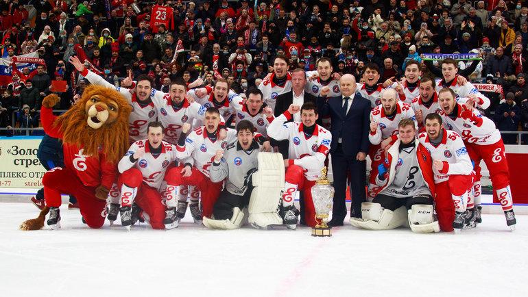 «Енисей»— чемпион России-2020/21. Фото Денис Приходько, ХК «Енисей»
