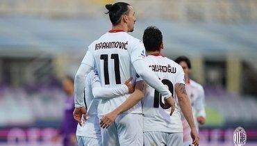 «Милан» переиграл «Фиорентину» без Кокорина, Ибрагимович иРибери забили поголу