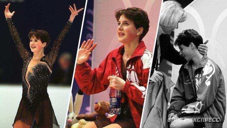 2002 год. Ирина Слуцкая наОлимпиаде вСолт-Лейк-Сити. Фото Александр Федоров, «СЭ»