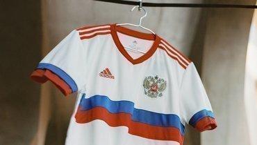 Гостевая форма сборной России. Фото adidas