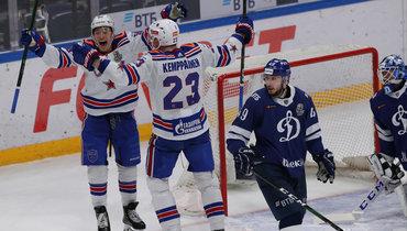 СКА вгостях обыграл «Динамо» вчетвертом матче серии плей-офф.