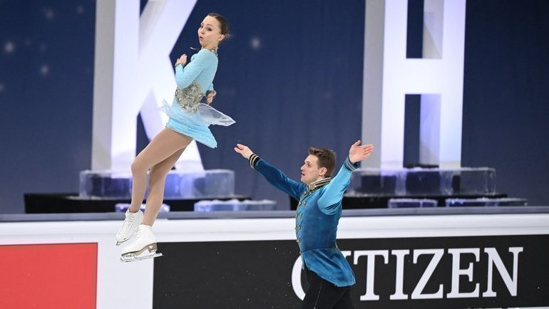 Александра Бойкова иДмитрий Козловский. Фото AFP