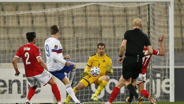Мальта— Россия— 1:3. Гол Александра Соболева.