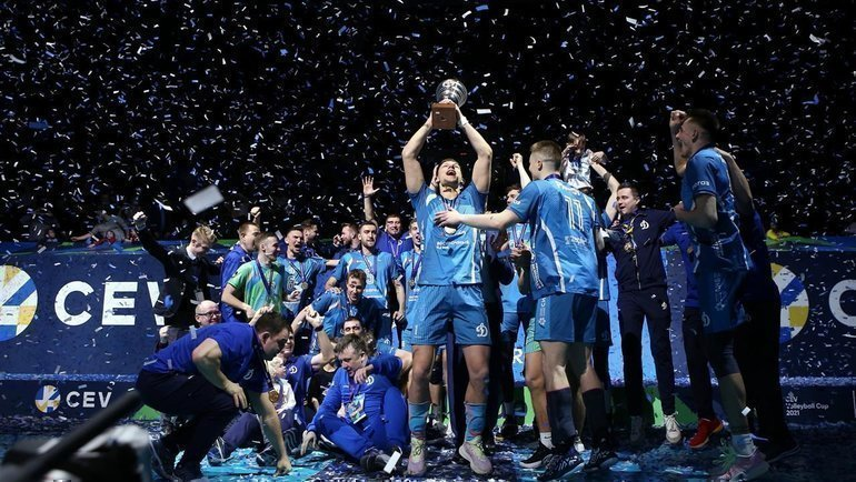 «Динамо» победило «Зенит» ивыиграло кубок ЕКВ. Фото cev.eu