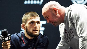 Президент UFC Уайт рассказал опереговорах сХабибом поповоду возвращения воктагон